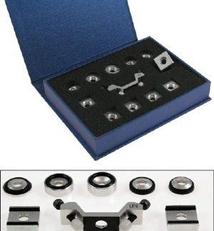 Accessoires durometres LEEB pour métaux.